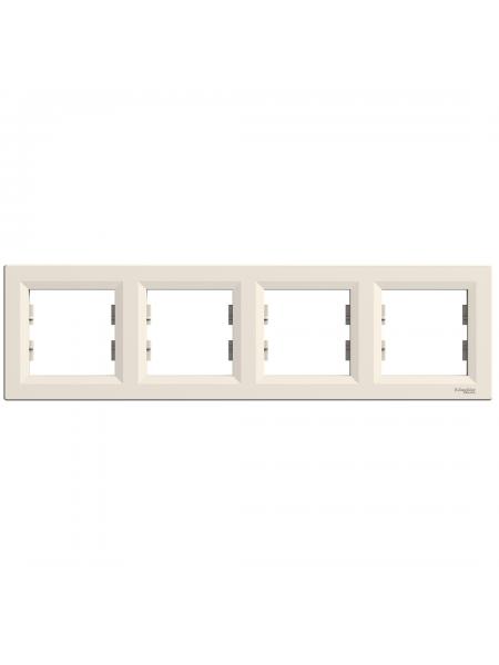эл.рамка SCHNEIDER ASFORA EPH5800423 4-я горизонт.крем (EPH5800423) Розетки и выключатели - интернет - магазин Моя Лампа ™