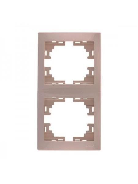 Рамка 2-ая вертикальная б/вст Mira701-0303-152 LEZARD кремовая (701-0303-152) Розетки и выключатели - интернет - магазин Моя Лампа ™