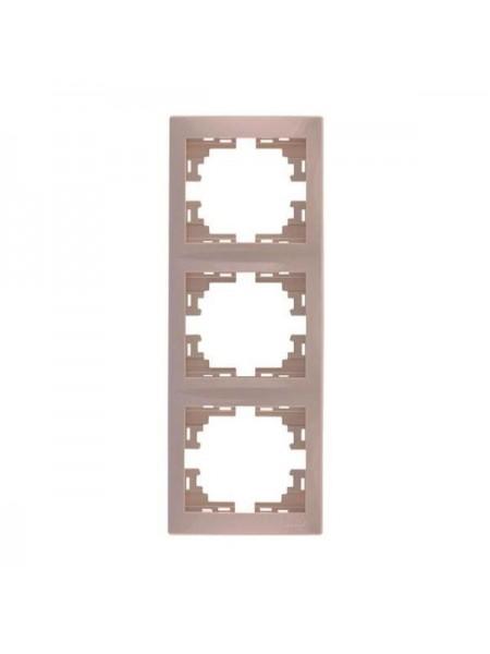 Рамка 3-ая вертикальная б/вст Mira701-0303-153 LEZARD кремовая (701-0303-153) Розетки и выключатели - интернет - магазин Моя Лампа ™