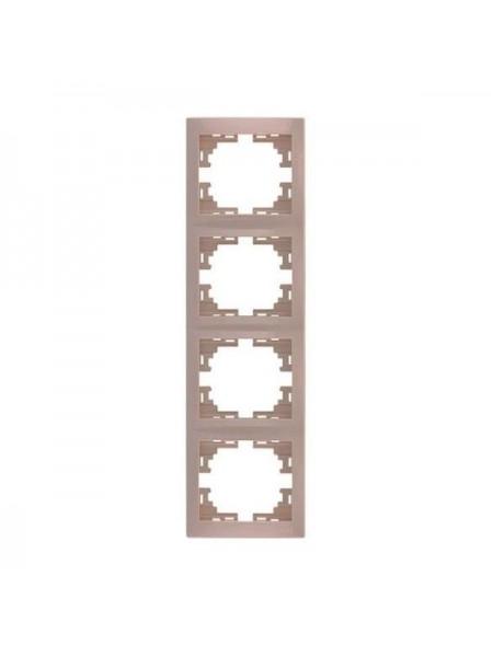 Рамка 4-ая вертикальная б/вст Mira701-0303-154 LEZARD кремовая (701-0303-154) Розетки и выключатели - интернет - магазин Моя Лампа ™
