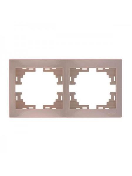 Рамка 2-ая горизонтальная б/вст Mira701-0303-147 LEZARD кремовая (701-0303-147) Розетки и выключатели - интернет - магазин Моя Лампа ™