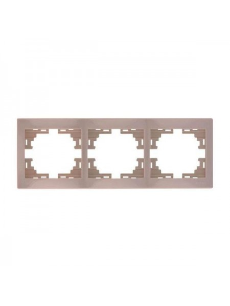 Рамка 3-ая горизонтальная б/вст Mira701-0303-148 LEZARD кремовая (701-0303-148) Розетки и выключатели - интернет - магазин Моя Лампа ™