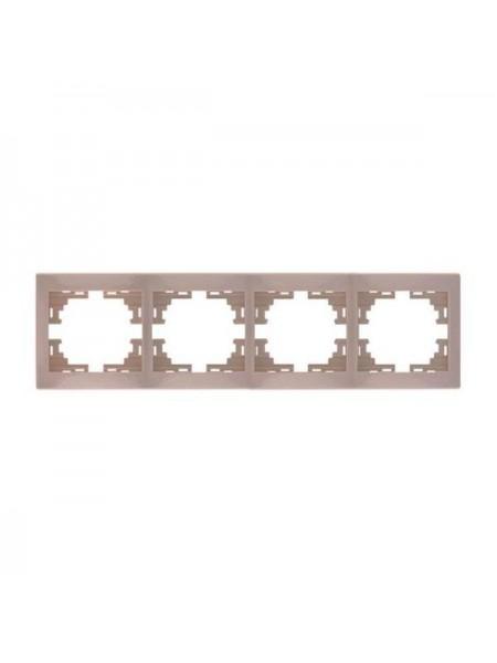 Рамка 4-ая горизонтальная б/вст Mira701-0303-149 LEZARD кремовая (701-0303-149) Розетки и выключатели - интернет - магазин Моя Лампа ™