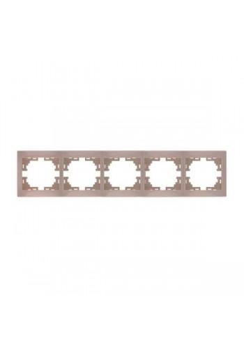 Рамка 5-ая горизонтальная б/вст  Mira701-0303-150 LEZARD кремовая (701-0303-150) Розетки и выключатели - интернет - магазин Моя Лампа ™