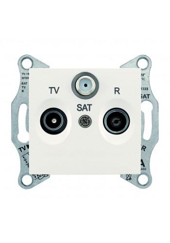 Розетка TV/R/SAT, проходная, 8 dB Sedna SDN3501223 слоновая кость (SDN3501223) Розетки и выключатели - интернет - магазин Моя Лампа ™