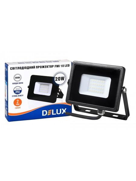 светодиодный прожектор  DELUX FMI 10 LED 20Вт 6500K IP65 - (90008734) (90008734) LED Прожекторы - интернет - магазин Моя Лампа ™