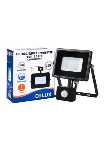 светодиодный прожектор  DELUX FMI 10 S LED 20Вт 6500K IP65 з датч. движ. - (90008735) (90008735) LED Прожекторы - интернет - магазин Моя Лампа ™