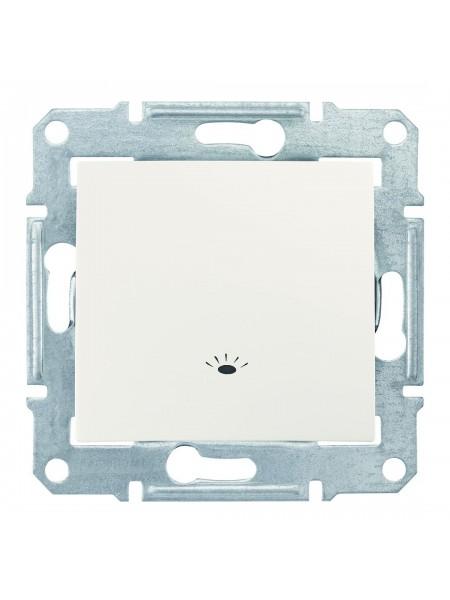 Одноклавишный кнопочный выключатель с символом «свет» 10 A  Sedna SDN0900123 слоновая кость (SDN0900123) Розетки и выключатели - интернет - магазин Моя Лампа ™
