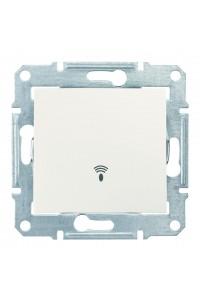Одноклавишный кнопочный выключатель с символом «звонок» 10 A Sedna SDN0800123 слоновая кость (SDN0800123) Розетки и выключатели - интернет - магазин Моя Лампа ™