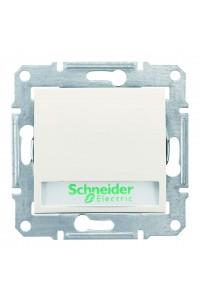 Одноклавишный кнопочный выключатель с полем для надписи и подсветкой (синяяя) 10 A  Sedna SDN1600323 слоновая кость (SDN1600323) Розетки и выключатели - интернет - магазин Моя Лампа ™
