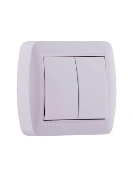 Выключатель наружный двойной белый Lezard Demet 711-0200-101 (711-0200-101) Розетки и выключатели - интернет - магазин Моя Лампа ™