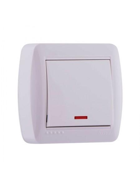 Выключатель наружный с подсветкой белый Lezard Demet 711-0200-111 (711-0200-111) Розетки и выключатели - интернет - магазин Моя Лампа ™