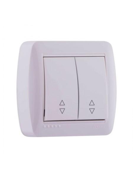 Выключатель наружный проходной двойной белый Lezard Demet 711-0200-106 (711-0200-106) Розетки и выключатели - интернет - магазин Моя Лампа ™