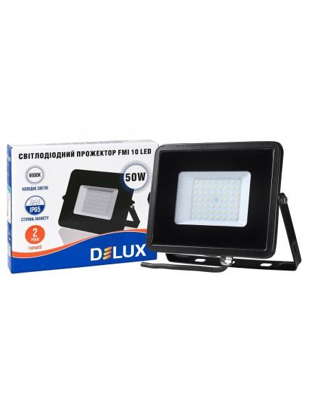 светодиодный прожектор  DELUX FMI 10 LED 50Вт 6500K IP65 - (90008738) (90008738) LED Прожекторы - интернет - магазин Моя Лампа ™