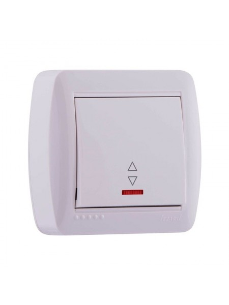 Выключатель наружный проходной с подсветкой белый Lezard Demet 711-0200-114 (711-0200-114) Розетки и выключатели - интернет - магазин Моя Лампа ™