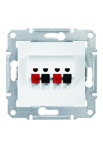 Аудиорозетка с пружинными зажимами  Sedna SDN5400121 белый (SDN5400121) Розетки и выключатели - интернет - магазин Моя Лампа ™
