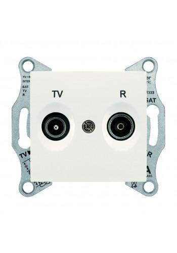 Розетка TV/R, проходная, 4 dB Sedna SDN3301823 слоновая кость (SDN3301823) Розетки и выключатели - интернет - магазин Моя Лампа ™