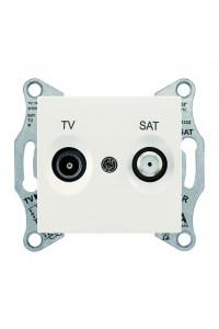 Розетка TV/SAT, проходная, 8 dB Sedna SDN3401223 слоновая кость (SDN3401223) Розетки и выключатели - интернет - магазин Моя Лампа ™