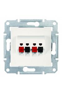 Аудиорозетка с пружинными зажимами  Sedna SDN5400123 слоновая кость (SDN5400123) Розетки и выключатели - интернет - магазин Моя Лампа ™