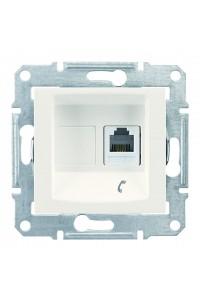 Телефонная розетка RJ11, с пружинными зажимами Sedna SDN4101123 слоновая кость (SDN4101123) Розетки и выключатели - интернет - магазин Моя Лампа ™