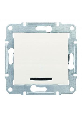 Одноклавишный переключатель с подсветкой (синяяя) 10 A Sedna SDN1500123 слоновая кость (SDN1500123) Розетки и выключатели - интернет - магазин Моя Лампа ™