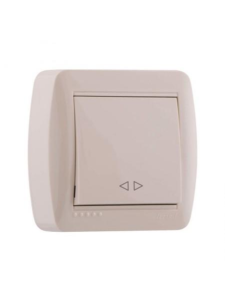 Выключатель наружный проходной крем Lezard Demet 711-0300-105 (711-0300-105) Розетки и выключатели - интернет - магазин Моя Лампа ™