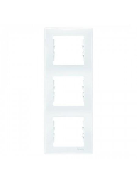 Рамка 3 постовая вертикальная  Sedna SDN5801321 белый (SDN5801321) Розетки и выключатели - интернет - магазин Моя Лампа ™