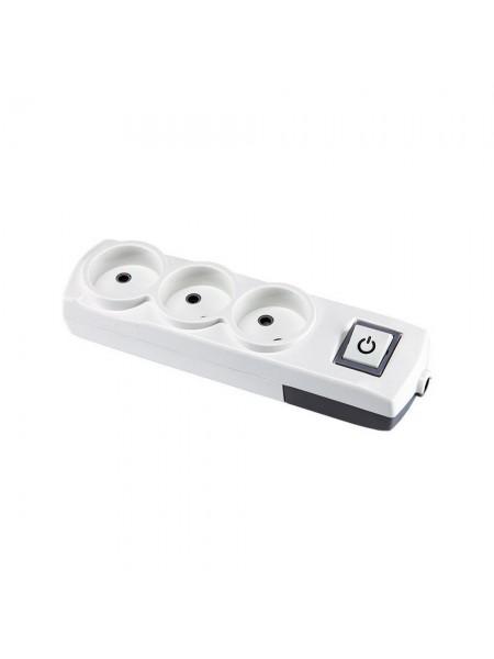 Колодка Violux 3-на без заземлення з вимикачем (910170) Подовжувачі - інтернет - магазині Моя Лампа ™