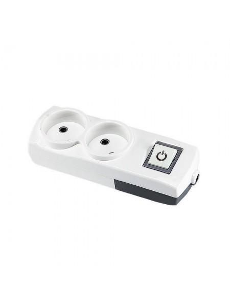 Колодка Violux 2-на без заземлення з вимикачем (910130) Подовжувачі - інтернет - магазині Моя Лампа ™