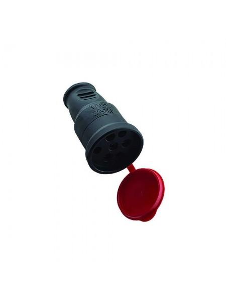 Розетка Violux каучук переносная трех фазная с крышкой IP44 (930680) Патроны, вилки, тройники, каучук - интернет - магазин Моя Лампа ™