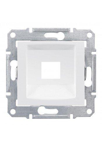 Накладка одномодульная RDM, кат. 5e, 6 UTP  Sedna SDN4300421 белый (SDN4300421) Розетки и выключатели - интернет - магазин Моя Лампа ™