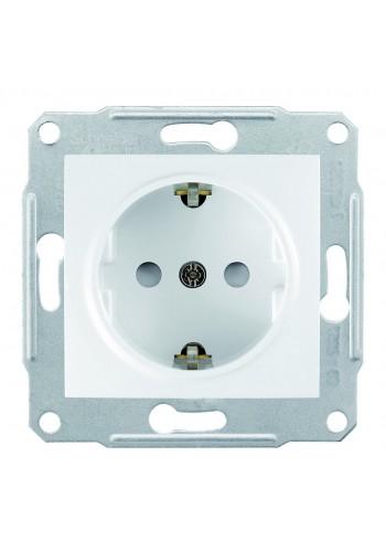 Розетка с заземлением 16 A - 250 В с защитными шторками  Sedna SDN3000121 белый (SDN3000121) Розетки и выключатели - интернет - магазин Моя Лампа ™