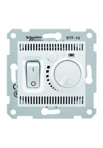 Термостат для теплого пола 10 A - 230 В, с температурным датчиком 4 м  Sedna SDN6000321 белый (SDN6000321) Розетки и выключатели - интернет - магазин Моя Лампа ™
