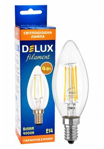 Лед лампа DELUX BL37B 4 Вт 4000K 220В E14 filament - (90011681) (90011681) Світодіодні лампи - інтернет - магазині Моя Лампа ™