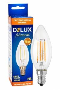 Лед лампа DELUX BL37B 4 Вт 2700K 220В E14 filament - (90011680) (90011680) Світодіодні лампи - інтернет - магазині Моя Лампа ™