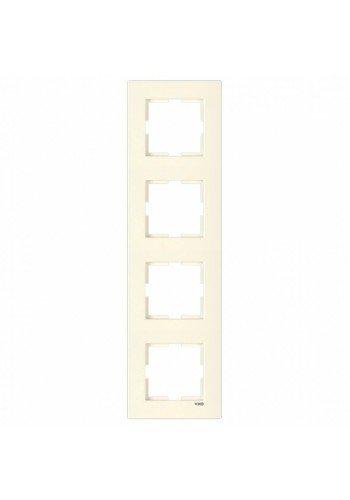 VI KO KARRE КРЕМ Рамка 4-я вертикальная 90960233 (90960233) Розетки и выключатели - интернет - магазин Моя Лампа ™