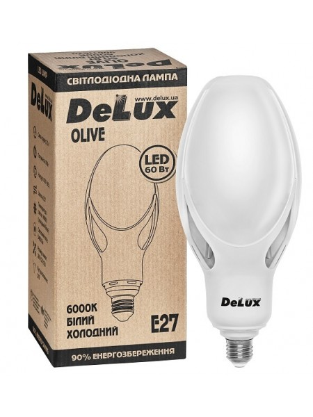 лампа Светодиодная DELUX OLIVE 60w E27 6000K замена ртутно-вольфрамовой лампы - (90011620) (90011620) Светодиодные лампы - интернет - магазин Моя Лампа ™