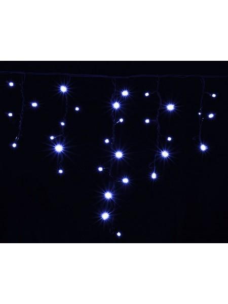 гирлянда внеш DELUX ICICLE 75LED 2x0.7m 18flash син/чор IP44 - (90012958) (90012958) Гирлянды - интернет - магазин Моя Лампа ™