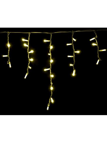гирлянда внеш DELUX ICICLE 75LED 2x0.7m 18flash желт/бел IP44 - (90012953) (90012953) Гирлянды - интернет - магазин Моя Лампа ™