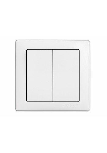 выключатель WEGA 9023 2-клавишный белый - (10040334) (10040334) Товары снятые с производства - интернет - магазин Моя Лампа ™