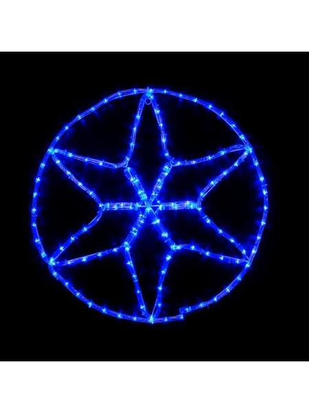 гирлянда внеш DELUX  MOTIF Star 6 кон. 60*60см 13 flash синий IP44 - (90012984)