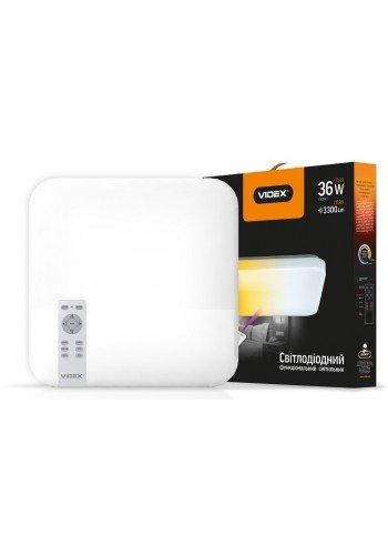 LED світильник VIDEX функціональний квадратний 36W 2800-6000K 220V IP20 VL-CLSS-36 (VL-CLSS-36) SMART Світильники світлодіодні - інтернет - магазині Моя Лампа ™
