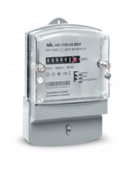 Счетчик электроэнергии НИК 2102-02 220В 5-60А М1 однофазный - (2102-02-М1) (2102-02-М1) Счетчики электрической энергии - интернет - магазин Моя Лампа ™