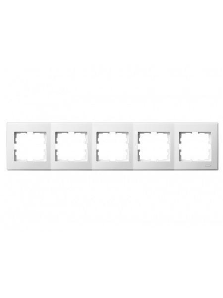 Рамка 5-а горизонтальна б/вст LEZARD LESYA 705-0202-150 білий з білою вставкою (705-0202-150) Розетки і вимикачі - інтернет - магазині Моя Лампа ™