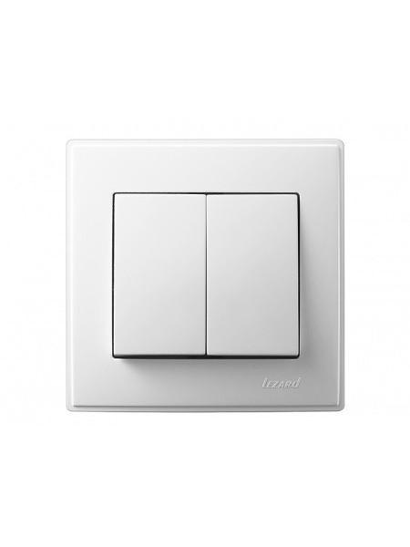 Выключатель двойной LEZARD LESYA 705-0202-101 белый с белой вставкой (705-0202-101) Розетки и выключатели - интернет - магазин Моя Лампа ™