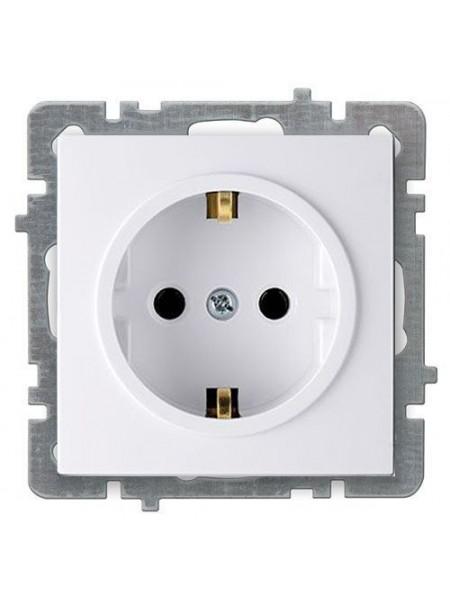 Розетка Nilson Touran біла 1на с/з без рамки - (24110417) (24110417) Розетки і вимикачі - інтернет - магазині Моя Лампа ™