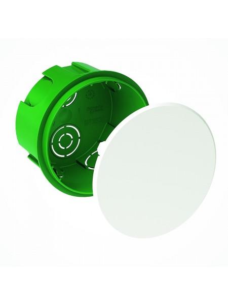 кор.монтаж  SCHNEIDER  IMT35121  распред. (под бетон кругла) D100x50 (IMT35121) Коробки монтажные - интернет - магазин Моя Лампа ™