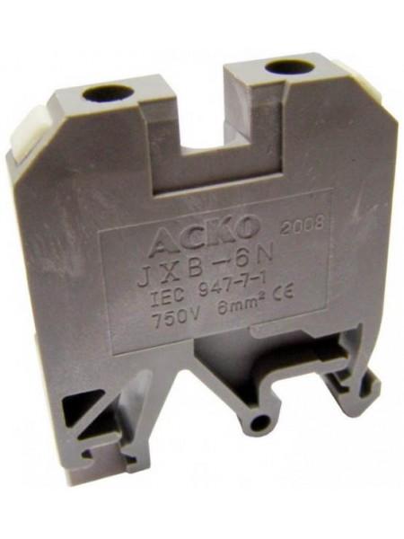 Клеммник JXB- 6 серый (A0130010003) Средства для электромонтажа - интернет - магазин Моя Лампа ™