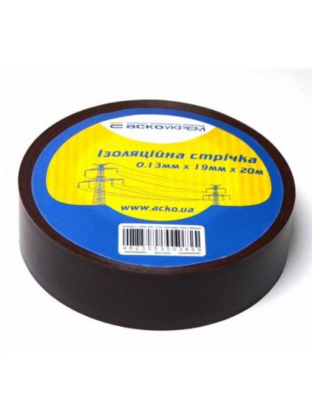 Ізострічка  ПВХ  0,13х19х20 м Аско коричнева (A0150020006_784950) Ізоляційна стрічка - інтернет - магазині Моя Лампа ™