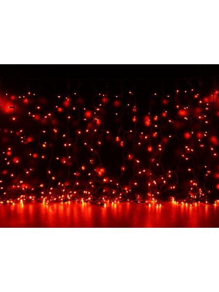 Curtain (штора) чорний кабель - 456 LED 2х1,5м - червоний